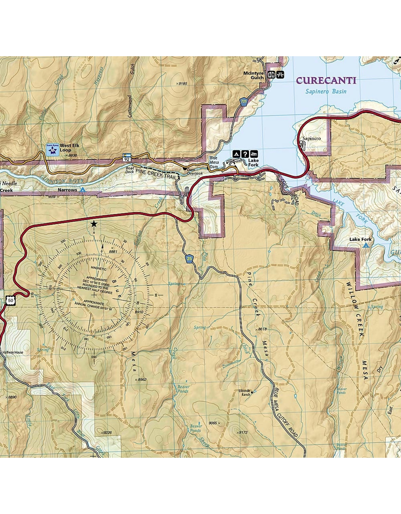 Nat Geo National Geographic Trails Illustrated Map, 245 Black Canyon of the Gunnison Map – Folded Map