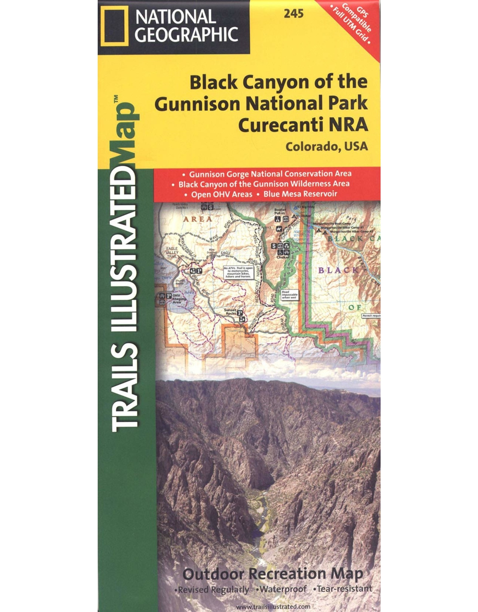 National Geographic Trails Illustrated Map, 245 Black Canyon of the Gunnison Map – Folded Map