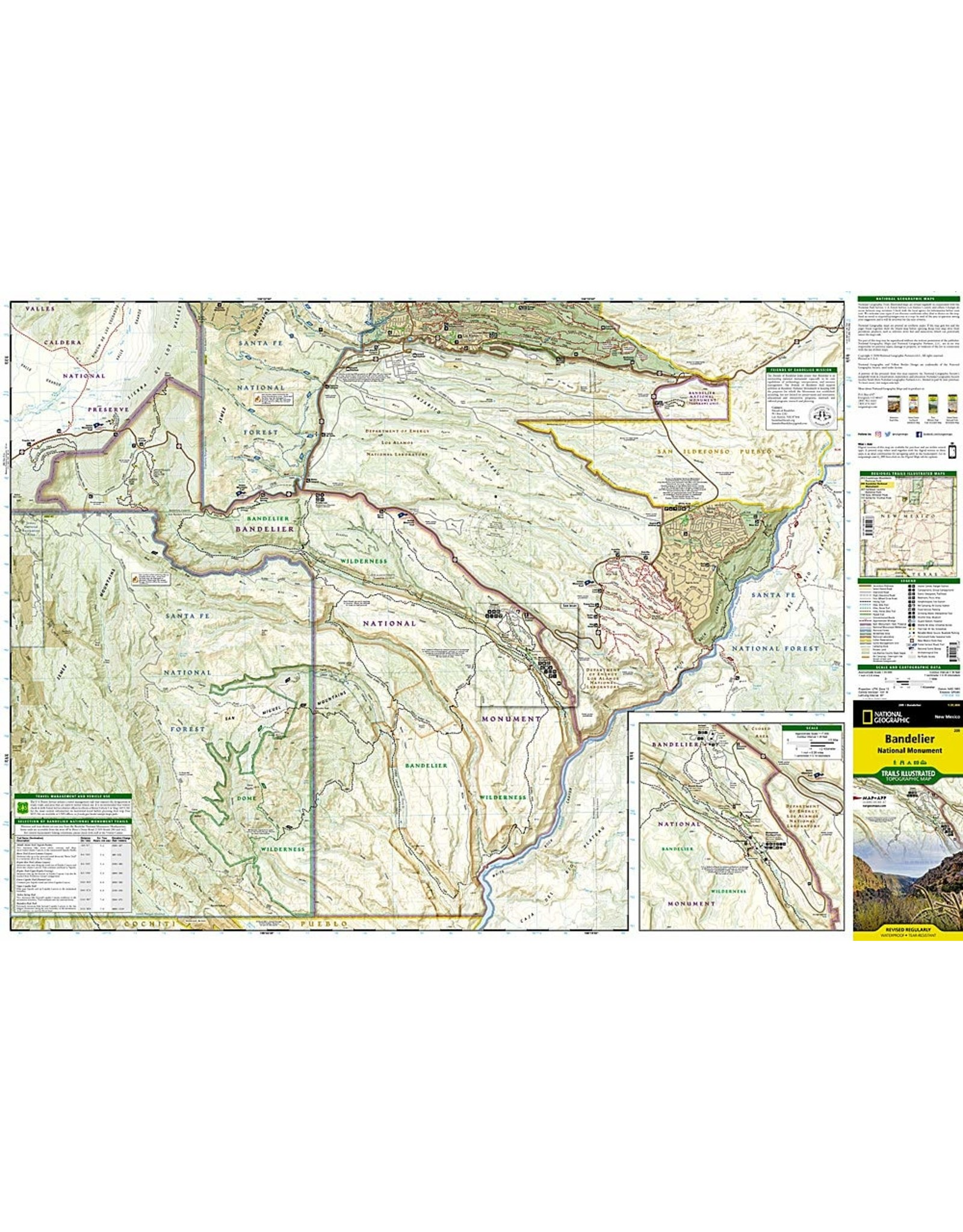 Nat Geo Bandelier National Monument (National Geographic Trails Illustrated Map, 209) Map – Illustrated