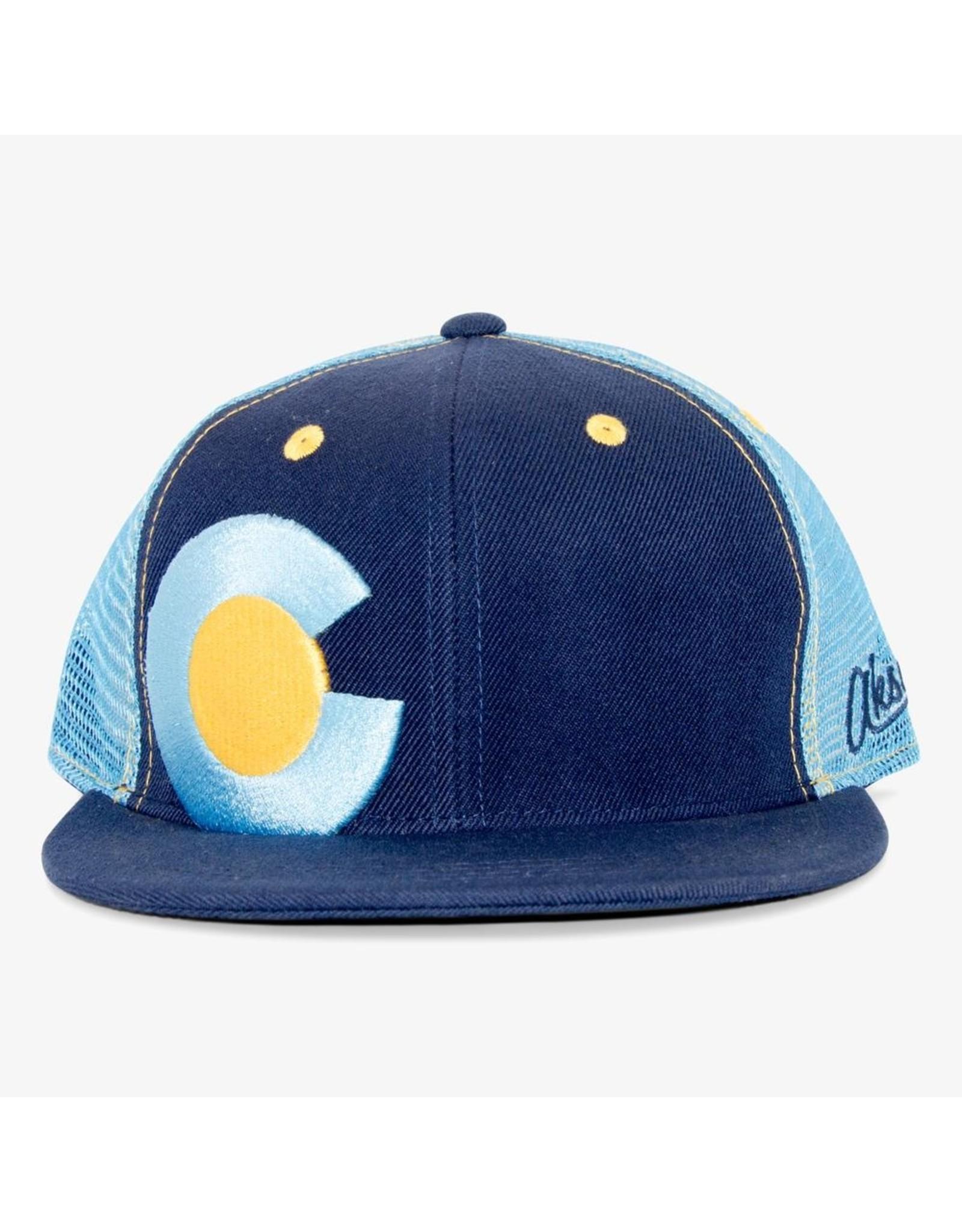 Aksels Aksels Big C Colorado Trucker Hat - Aqua