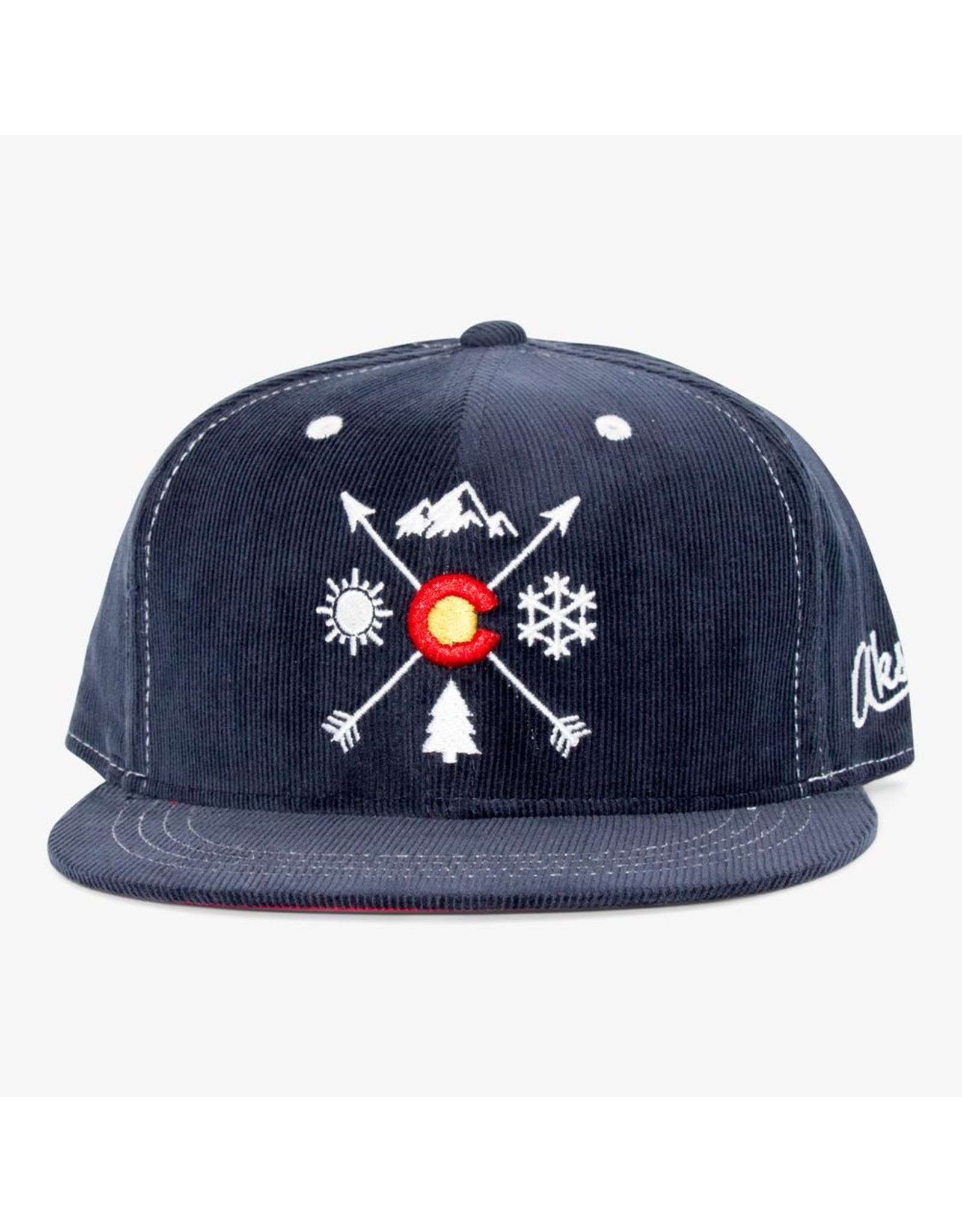 Aksels Aksels Colorado Arrows Corduroy Snapback Hat, Navy