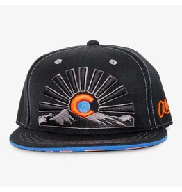 Aksels Askels Colorado Sunset Views Snapback Hat - Orange
