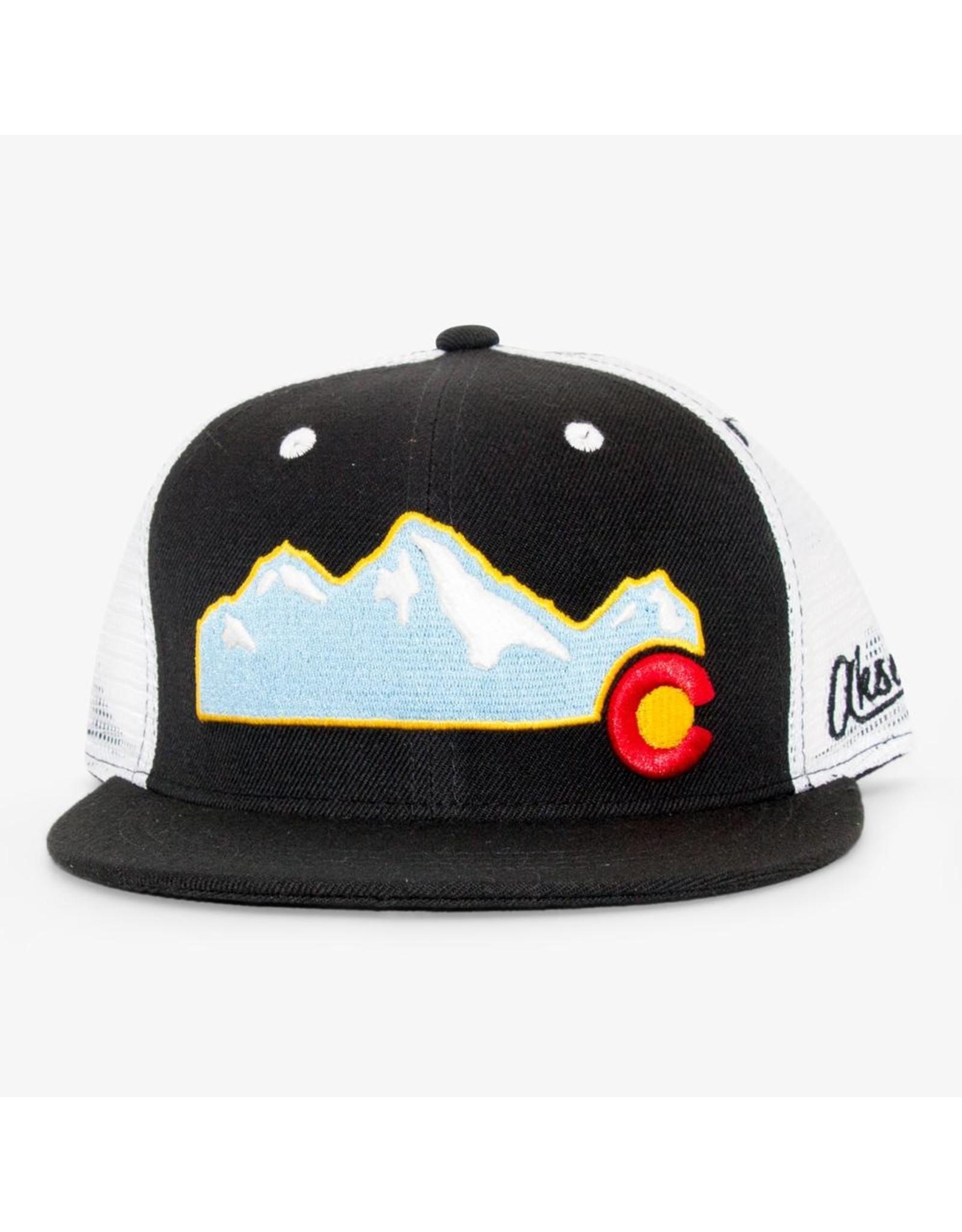 Aksels Aksels Rocky Mountain Flat Bill Colorado Trucker Hat