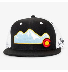 Aksels Aksels Rocky Mountain Flat Bill Colorado Trucker Hat