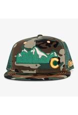 Aksels Aksels Rocky Mountain Flat Bill Colorado Trucker Hat - Camo