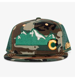 Aksels Aksels Rocky Mountain Flat Bill Colorado Trucker Hat - Camo