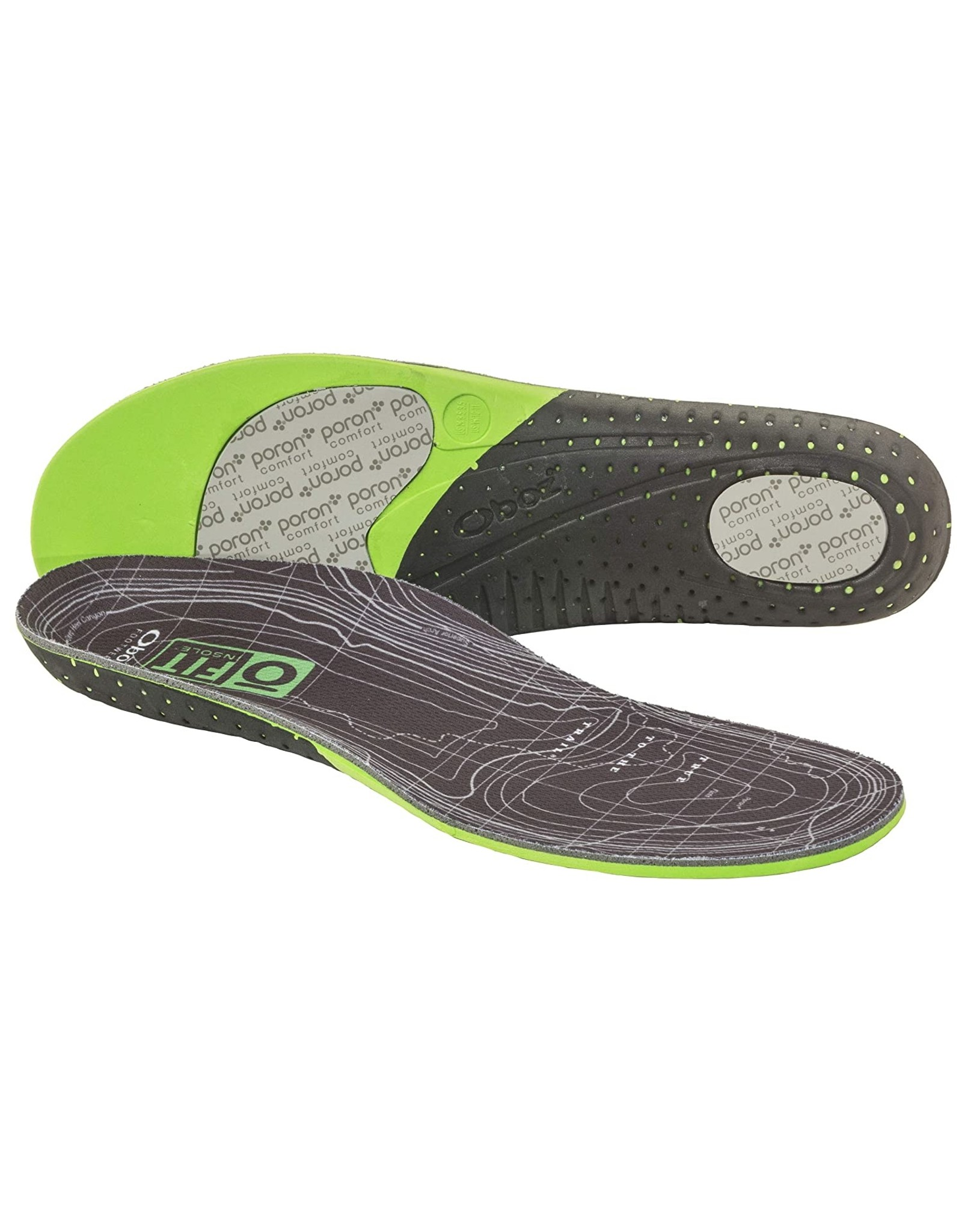Oboz O FIT Insole Plus Thermal Medium Arch Unisex Green XS