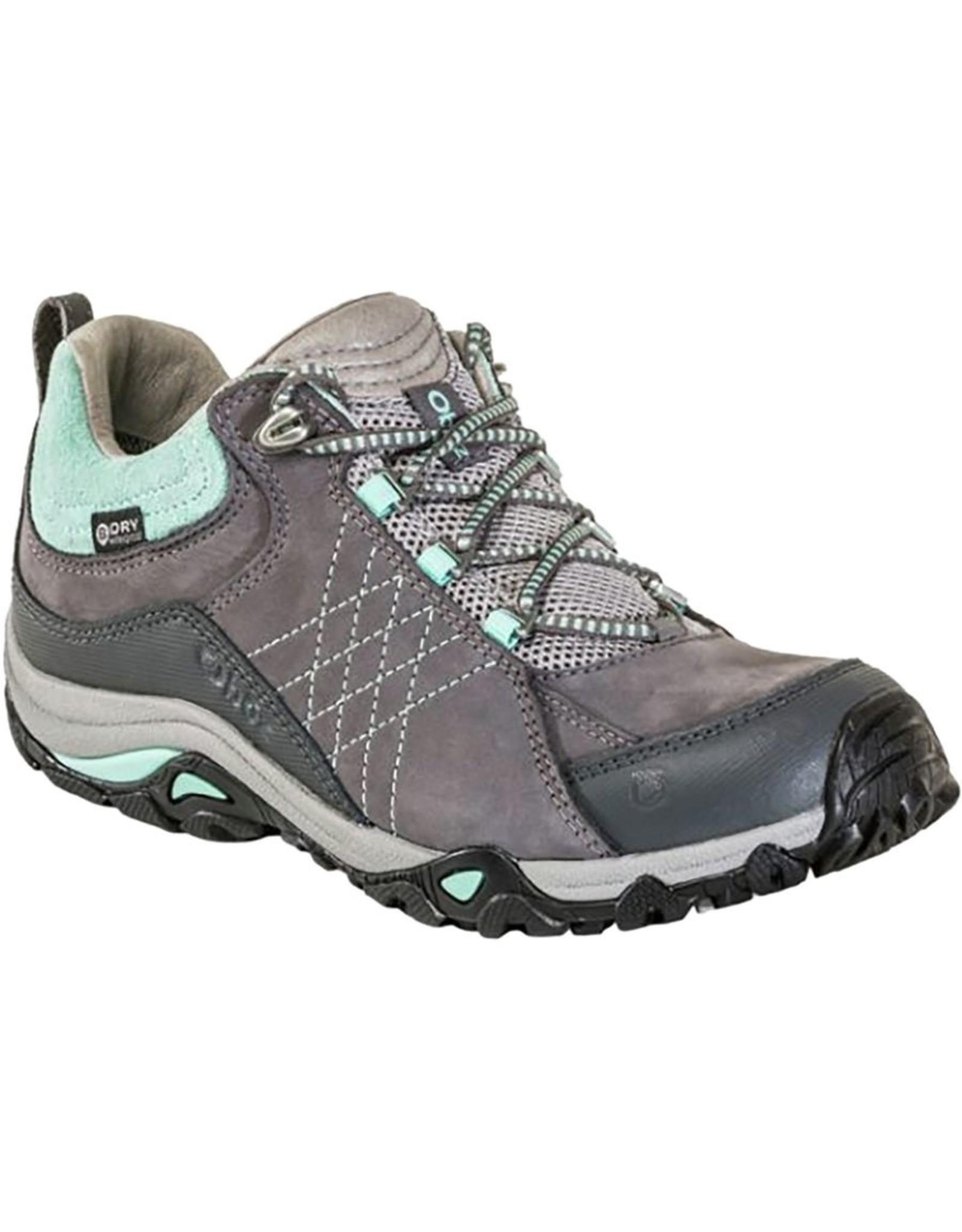 Oboz Oboz Women's Sapphire Low B-Dry Waterproof Hiking Shoe Charcoal / Beach Glass 10.5