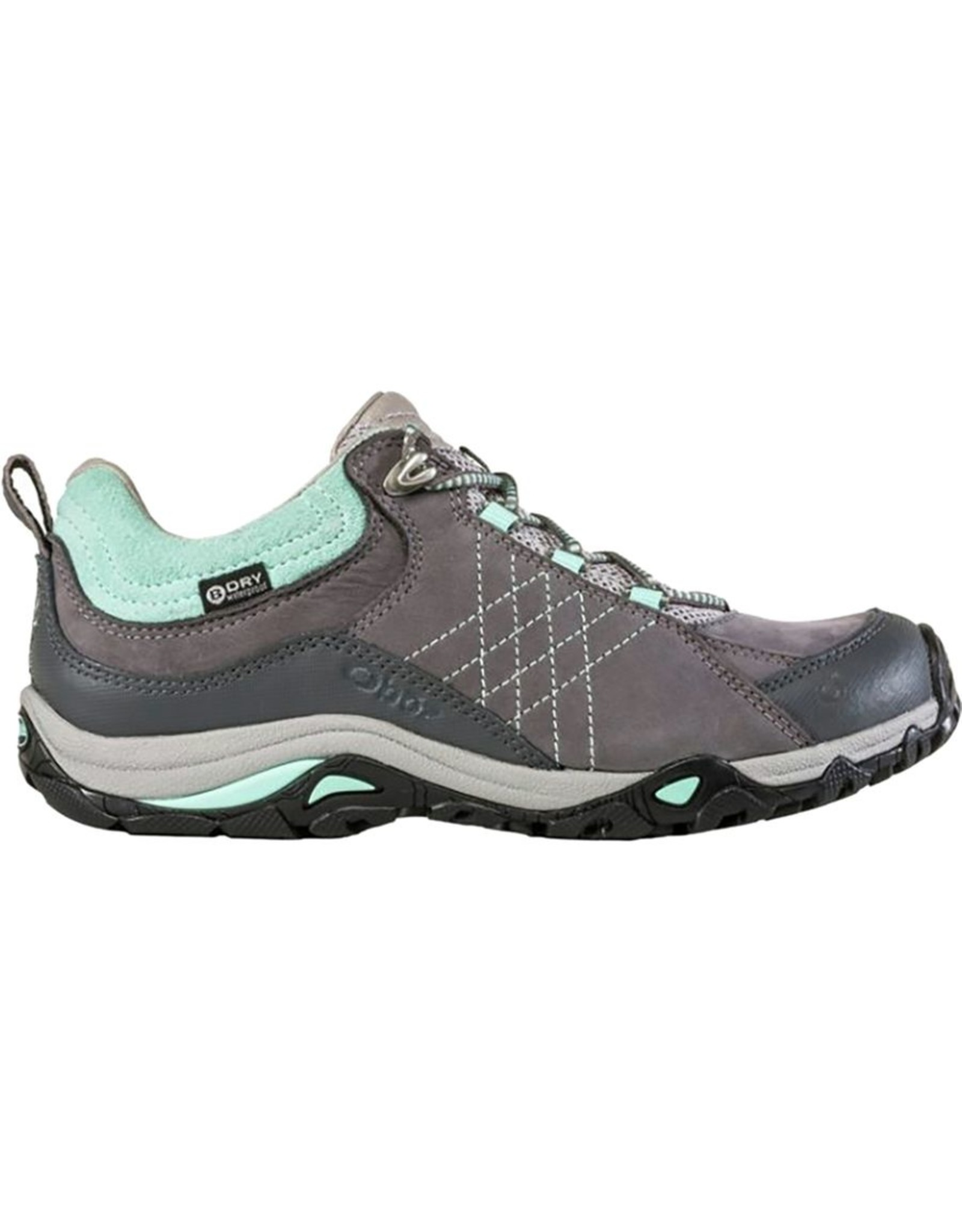 Oboz Footwear Oboz Women's Sapphire Low B-Dry Waterproof Hiking Shoe Charcoal / Beach Glass 7