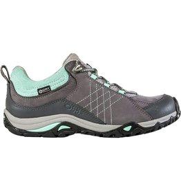 Oboz Women's Sapphire Low B-Dry Waterproof Hiking Shoe Charcoal / Beach Glass 7