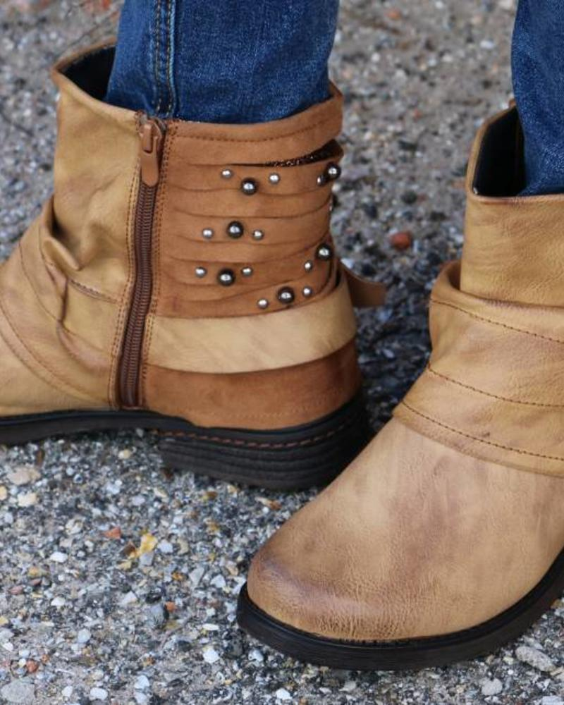 Perham- New Tan Studded Boot -