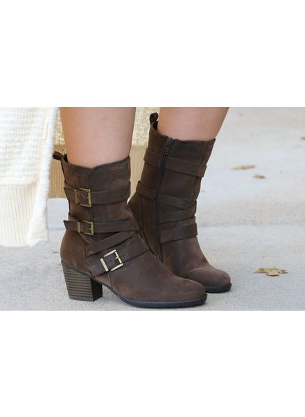 """Trill"" Dark Brown Boot -"
