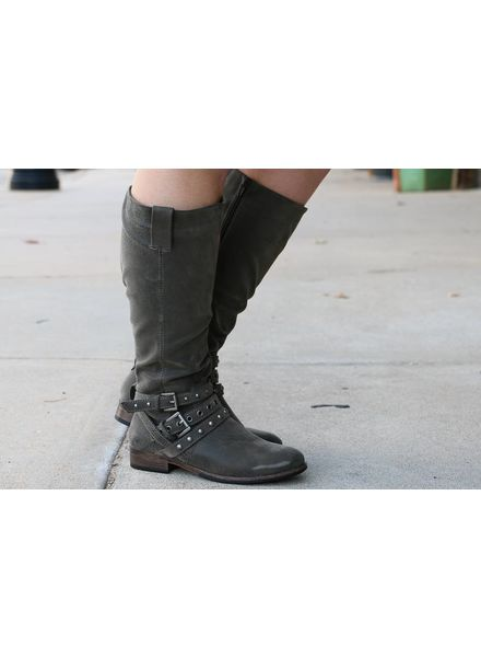 """Boundless"" Pewter Boot -"