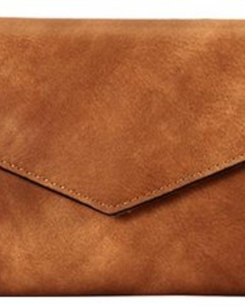 Faux Leather Wallet - Taupe