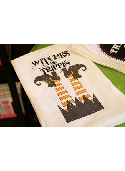 Witches Be Trippin Tea Towel