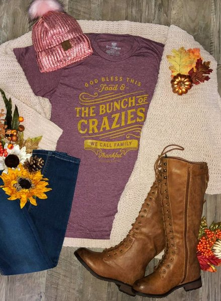 Southern Bliss Crazies Maroon Graphic Tee -