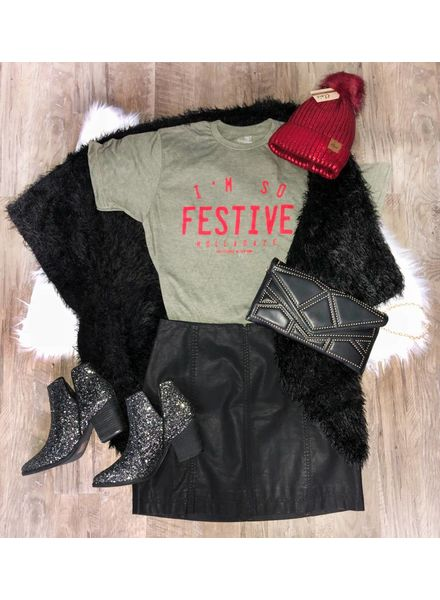 Southern Bliss Festive Holladaze Graphic Tee -