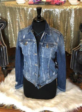 Sneak Peek Medium Wash Jean Jacket - Sneak Peek Denim -