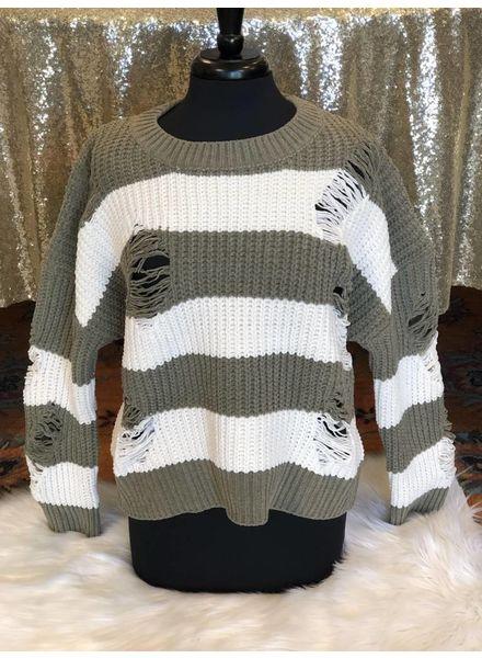 """Brick House"" Color Block Sweater -"