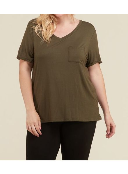 Janette Plus Curvy Pocket Tee -