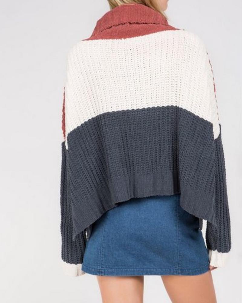 Ginger Rose Color Block Sweater -