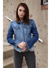 Sneak Peek Medium Wash Jean Jacket - Sneak Peek Denim -