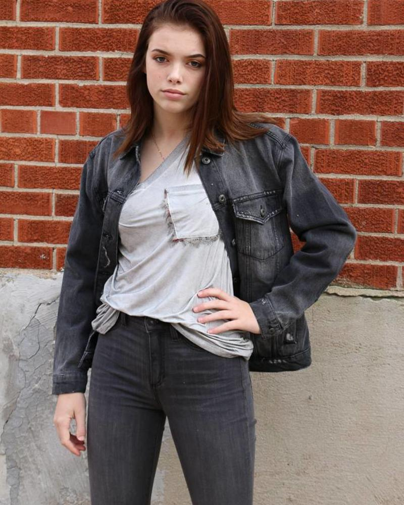 Sneak Peek Black Jean Jacket - Sneak Peek Denim -