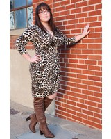 Janette Plus Leopad Animal Print Dress -