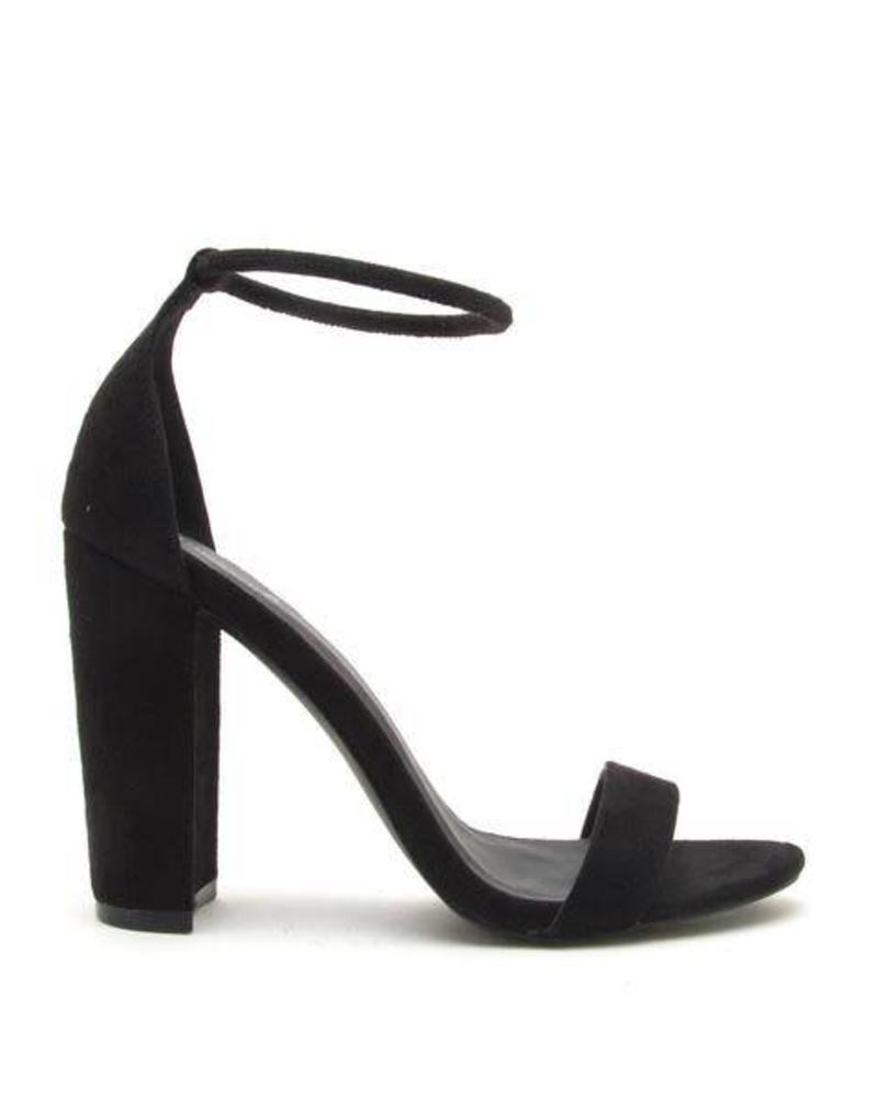 Black Suede Block Heel -