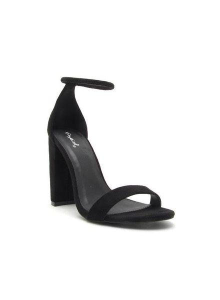 Black Suede Block Heel -