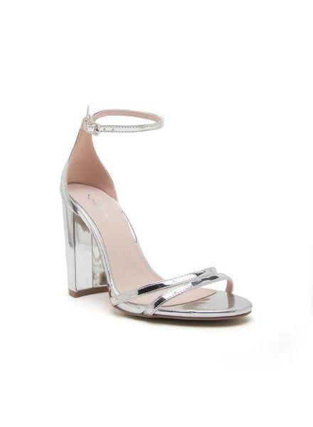 Silver Block Heel -