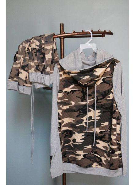 12pm Mon Ami Camo Drawstring Pullover -