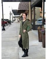 Olive Long Cardigan -