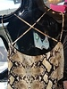 CY Fashion Snake skin print tank top w/caged detail