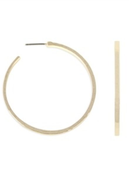 Influence Hammered round hoop earrings