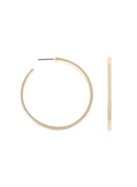 Influence Hammered round hoop earrings