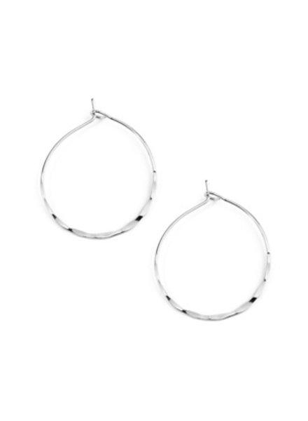 Eternity Small hammered hoop earrings
