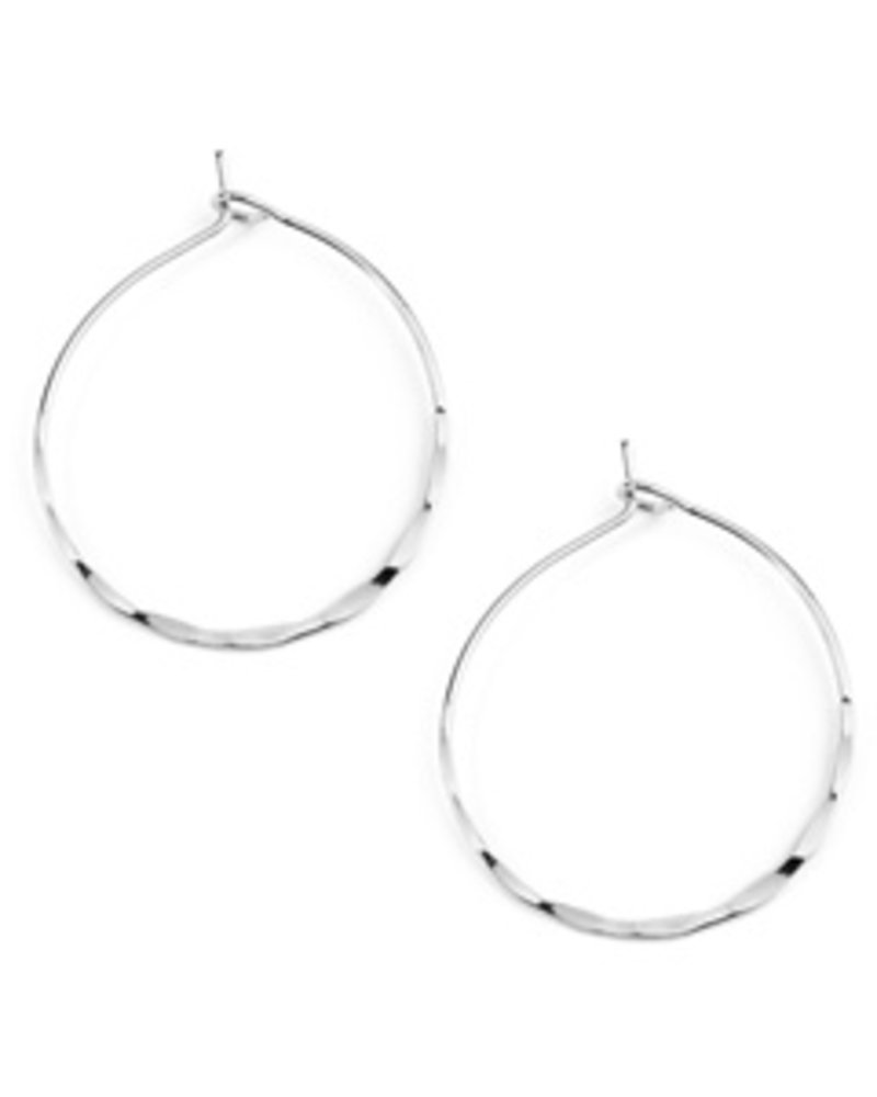 Eternity Small hammered hoop earrings