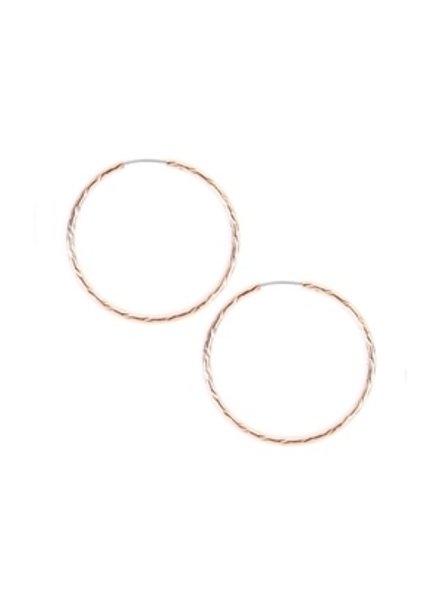 Eternity Textured endless small hoop earrings