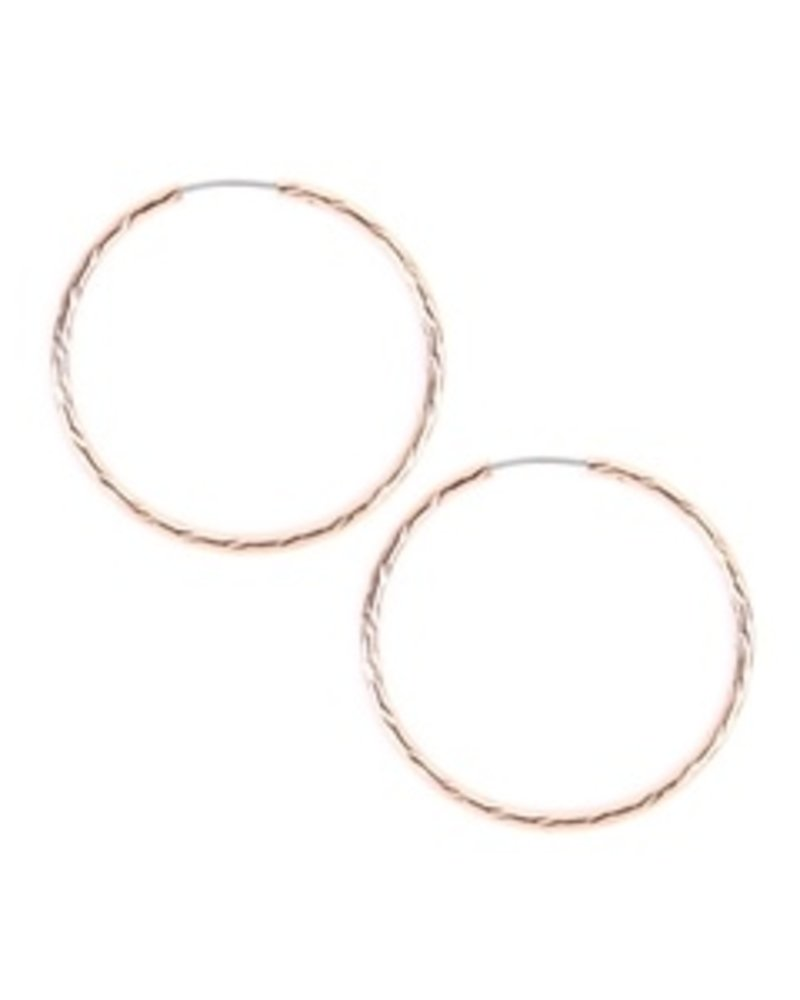 Eternity Textured endless small hoop earrings