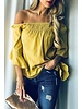 And the Why Yellow Off Shoulder Top Size Large