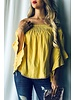 And the Why Yellow Off Shoulder Top Size Medium