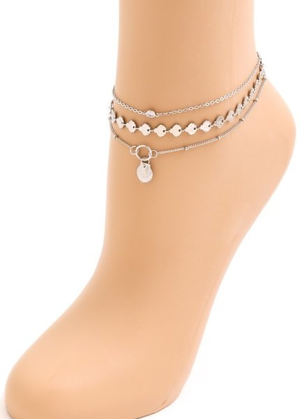 ITS Seashell chain anklet