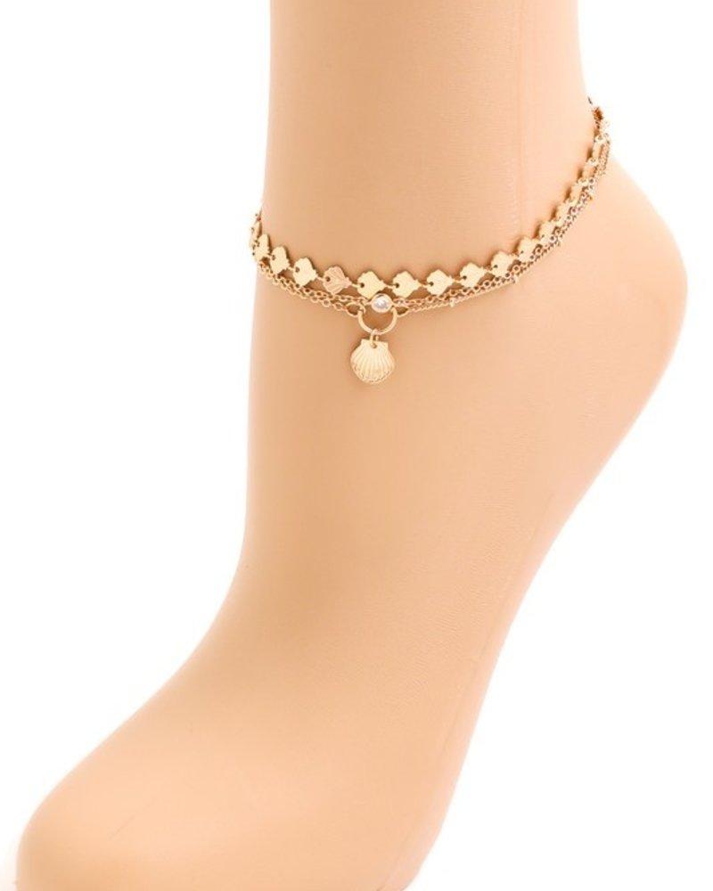 Its Sense Seashell chain anklet
