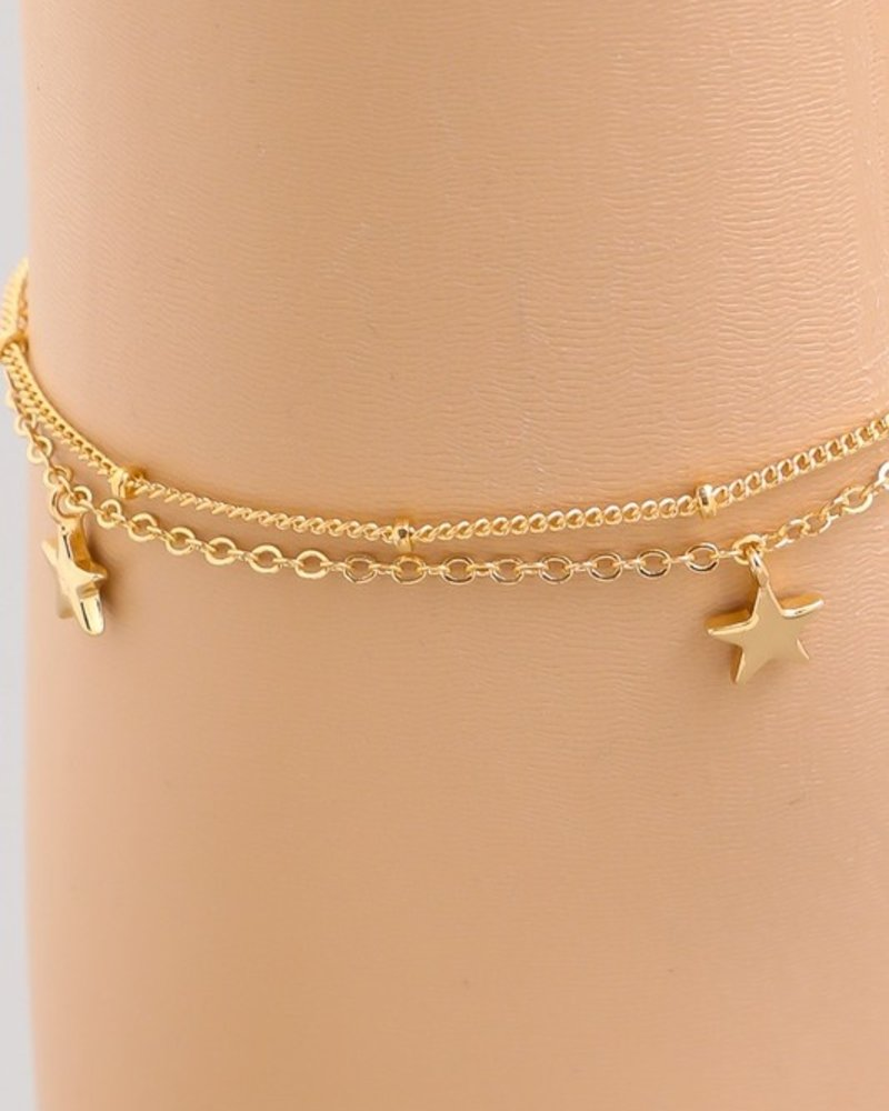 Dorthy Star chain anklet