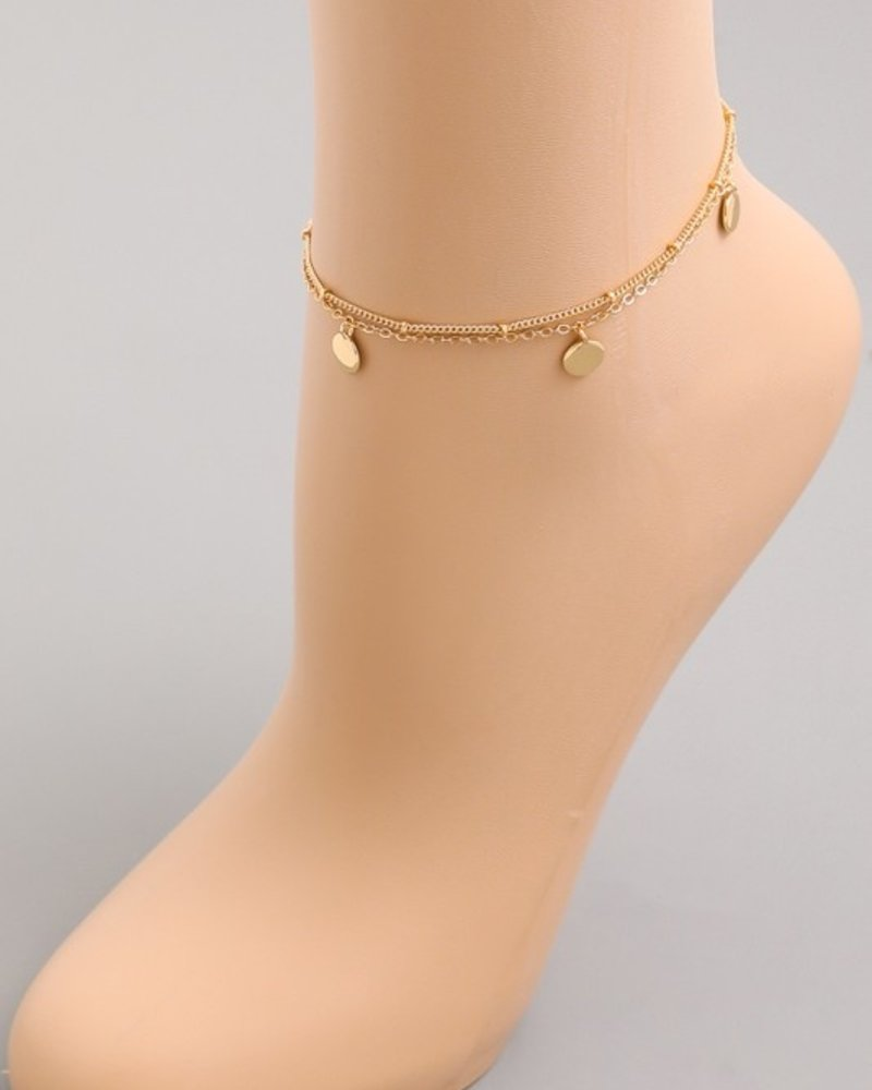 Dorthy Small circle anklet