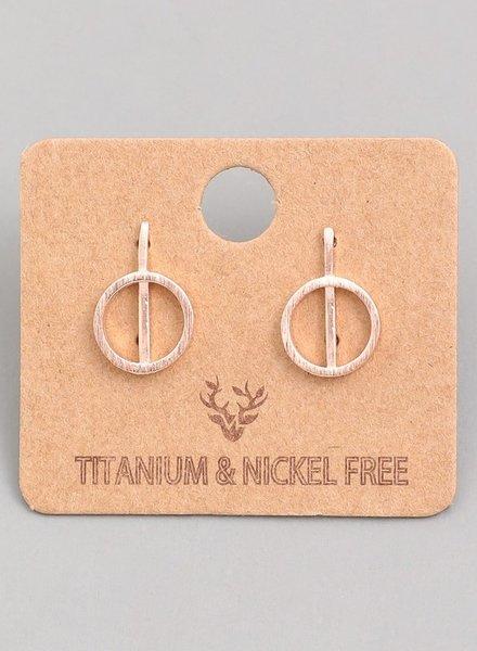 Ring bar earring