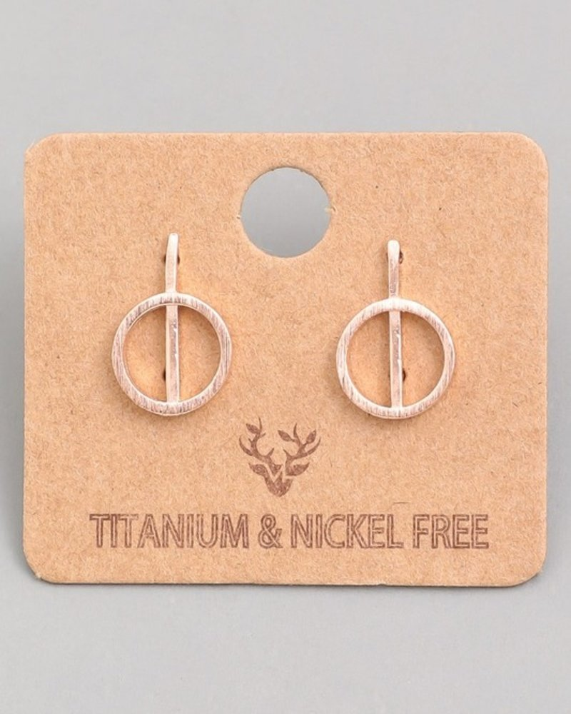 Ring bar earring