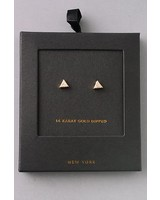 Secret Box 14 karat gold dipped tri earring