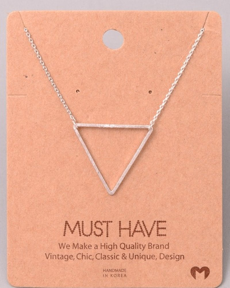 Must have Triangle chain necklace
